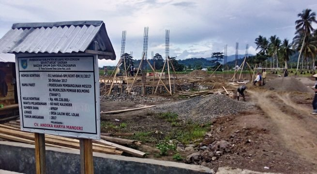 Pemkab Bolmong Pacu Pembangunan Mesjid Al-Mukhlisin