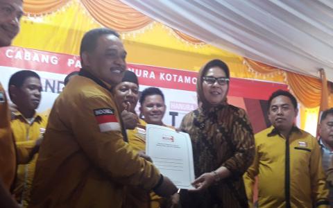 Hanura Nyatakan Dukung Tatong dan Nayodo di Pilwako Kotamobagu