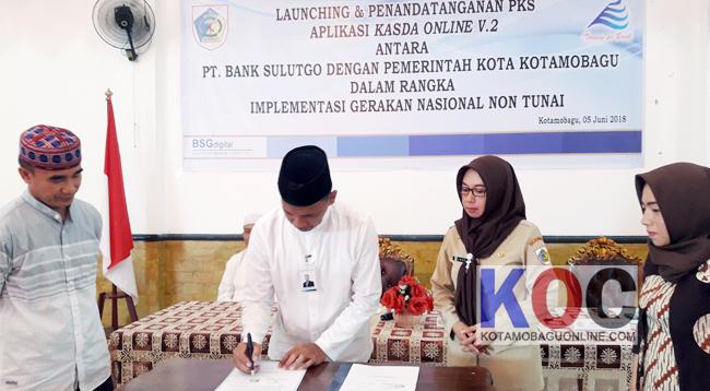 Pemkot Kotamobagu bersama Bank Sulutgo Launching Aplikasi Kasda Online Versi Dua