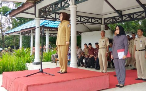Wali Kota Tatong Bara Pimpin Apel Kerja Perdana