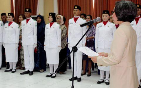 Bupati Kukuhkan 36 Anggota Paskibraka Bolmong