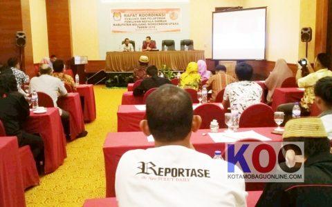 KPU Bolmut gelar Rakor Evaluasi dan Pelaporan Pilkada 2018