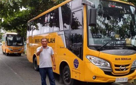 Kotamobagu Ketambahan 1 Unit Bus Sekolah dari Kemenhub RI
