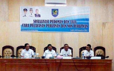 DPM-PTSP Bolmong Sosialisasikan Aplikasi http//oss.go.id Bebas KKN