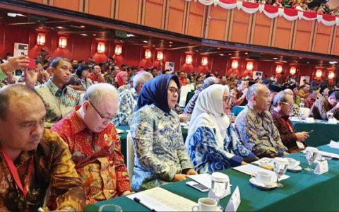 Wali Kota Tatong Bara, saat menghadiri Rakernas dan Launching Gerakan Indonesia Bersih