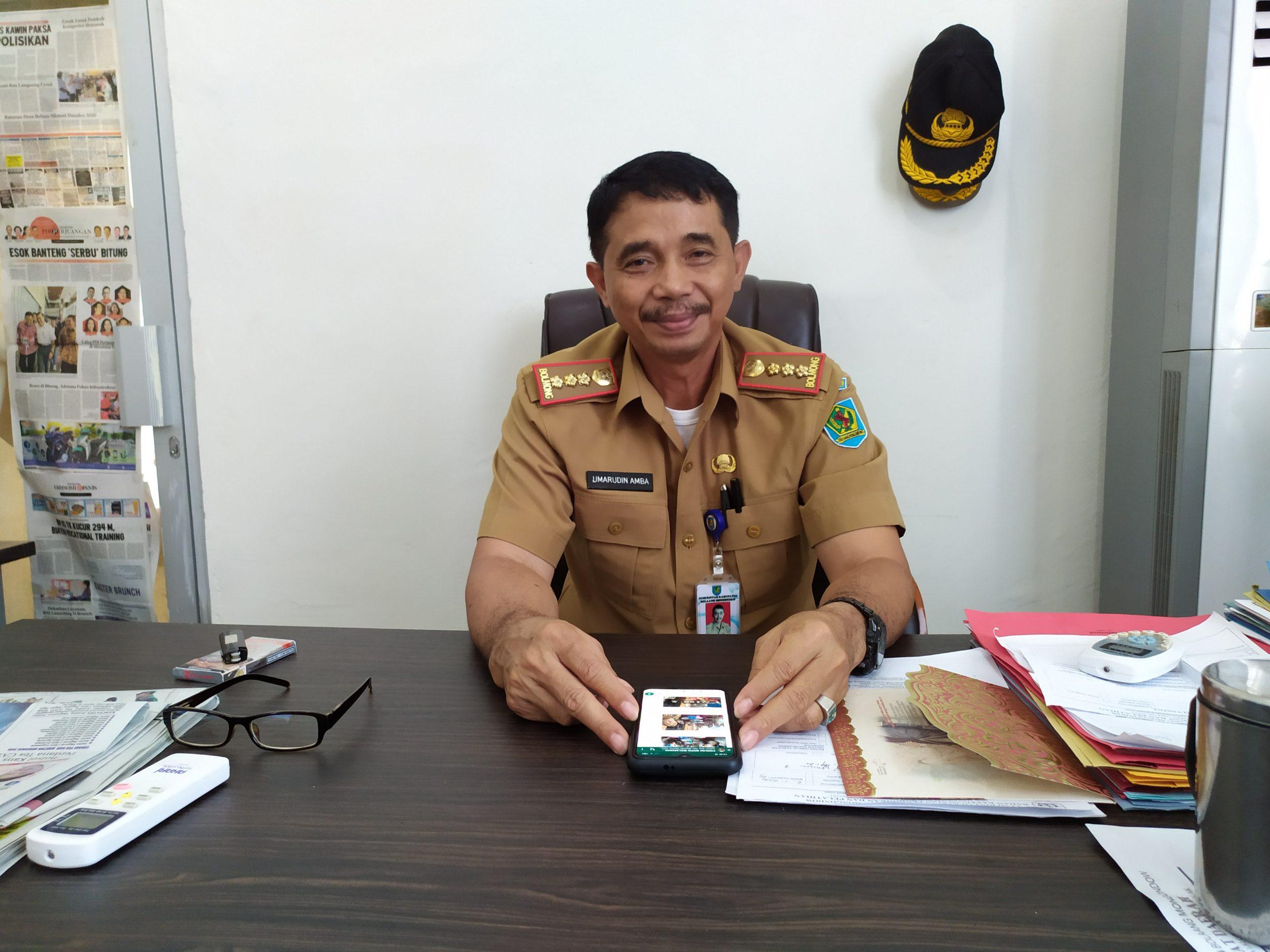 Kepala BKPP Kabupaten Bolmong Umarudi Amba