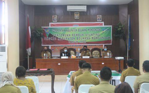 Pemkab Gelar Pertemuan Rembuk dan Penandatanganan Komitmen Bersama Percepatan Penanggulangan Stunting di Wilayah Kabupaten Bolmong (Foto: TUP)